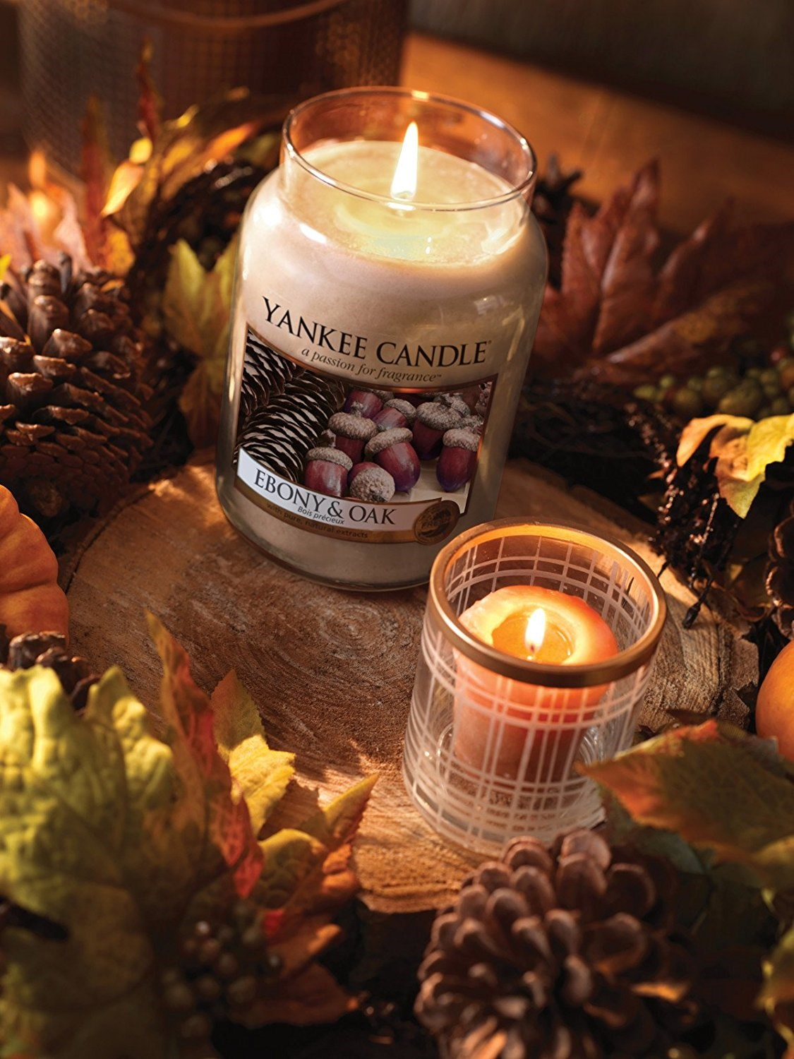 Yankee candle ebony oak giara piccola yankee candle for Candele arredo