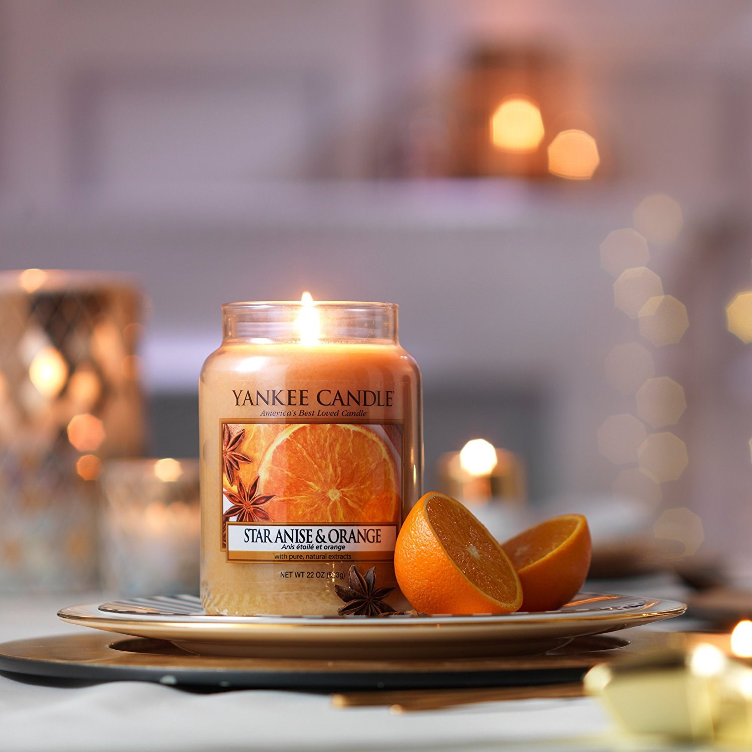 Yankee candle giara media star anise orange yankee for Candele arredo