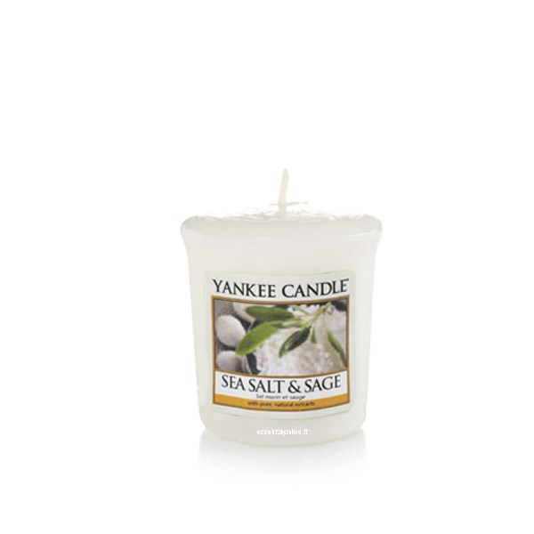 Yankee candle votivo sea salt sage yankee candle for Candele arredo