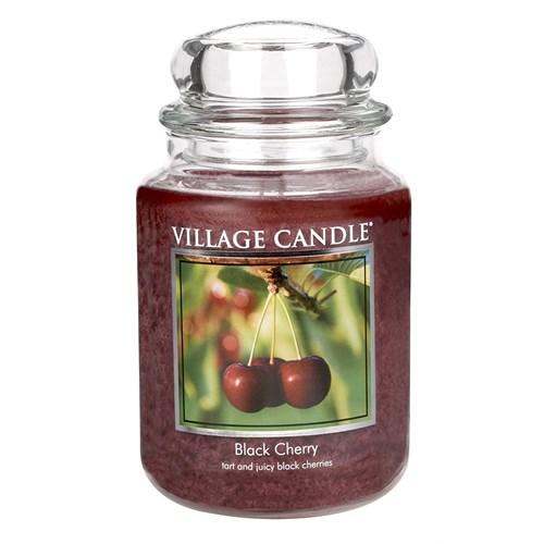 Black Cherry candela in giara 26 oz Village Candle