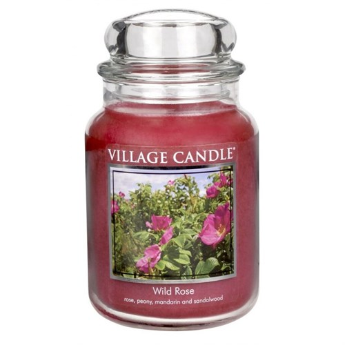 Wild rose candela giara 26 oz Village Candle