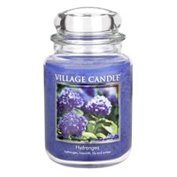 Hydrangea candela in Giara 737 gr (26 oz) Village Candle