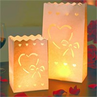 Set 10 lanterne decorative a sacchetto Amore Luminaria