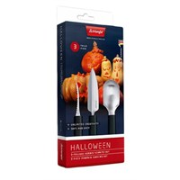 Set 3 coltelli per incisione zucca di Halloween Triangle