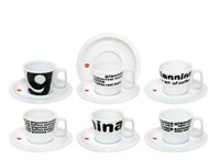 Set 6 tazze caffè con piattino art of coffee Giannini