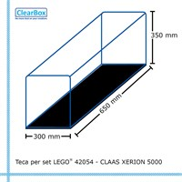 Teca ClearBox per set LEGO 42054 CLAAS Xerion 5000 Trac VC