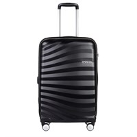 Valigia Trolley medio OceanFront Onyx Black SPINNER 4 RUOTE American Tourister